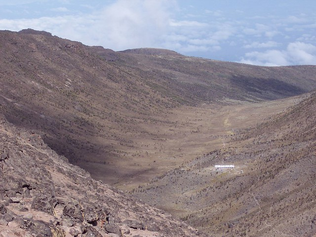 View of the 14,200ft camp