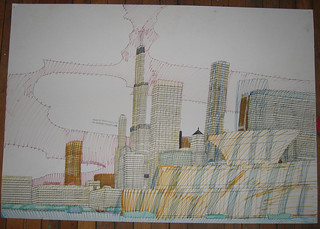 Wesley Willis Art > Buckingham Fountain, 1998