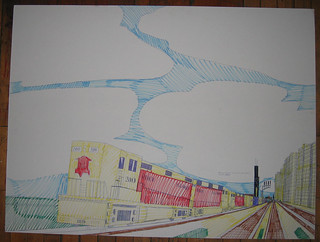 Wesley Willis Art > Rock Island, 2002