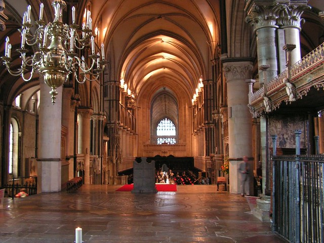 Inside Canterbury Cathedral by flickr user andy_h