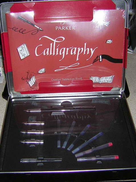 Parker Calligraphy Gift Set Box Open Book Wrapped In