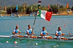 canoe sprint(0.0), outdoor recreation(0.0), canoeing(0.0), vehicle(1.0), sports(1.0), rowing(1.0), recreation(1.0), watercraft rowing(1.0), leisure(1.0), boating(1.0), water sport(1.0),