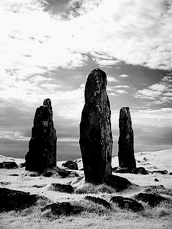 Glengorm Stone Circle. Isle of Mull, Scotland.