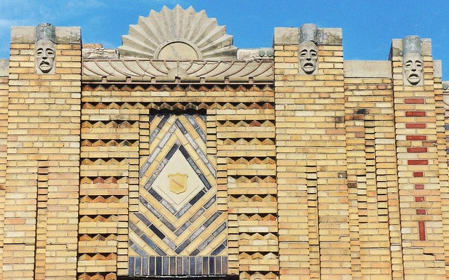 Art Deco Roofline (Heads and Sunburst), East Jefferson Avenue--Detroit MI