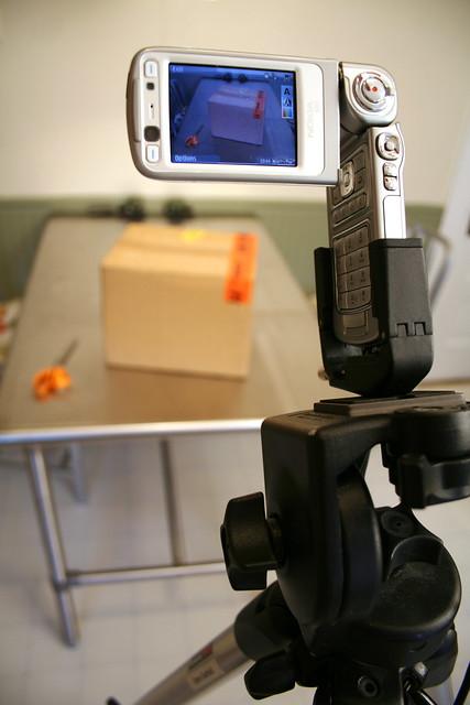 Nokia N93 Video Shoot of N95 Unboxing