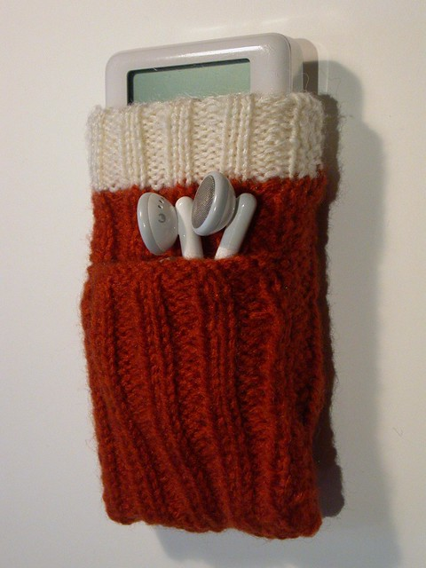 Knitting Pattern For Ipod Sock : Hand knitted iPod socks Flickr - Photo Sharing!