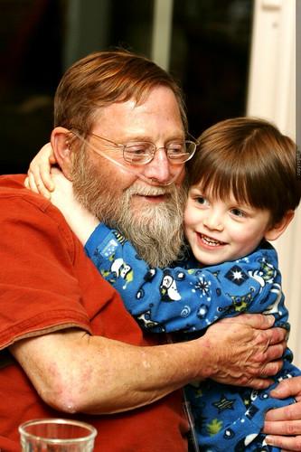 nick hugs papa chips goodnight    MG 0202