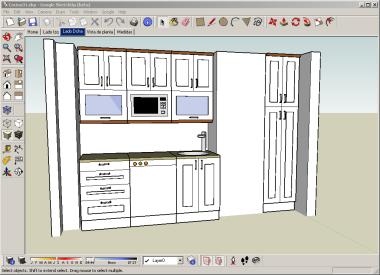 Dise ando cocinas con google sketchup xperimentos for Programas para hacer cocinas en 3d