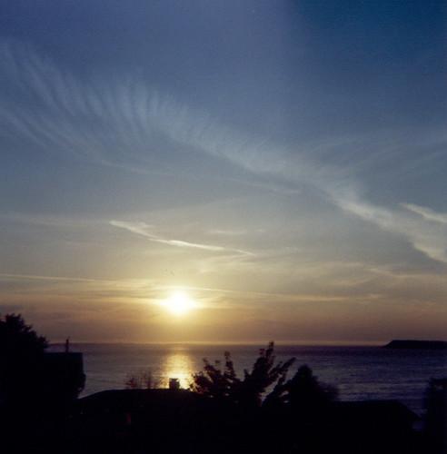 sunset holga sonnenuntergang porttownsend pugetsound protectionisland