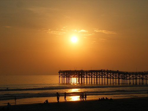 PB sunset over the pier