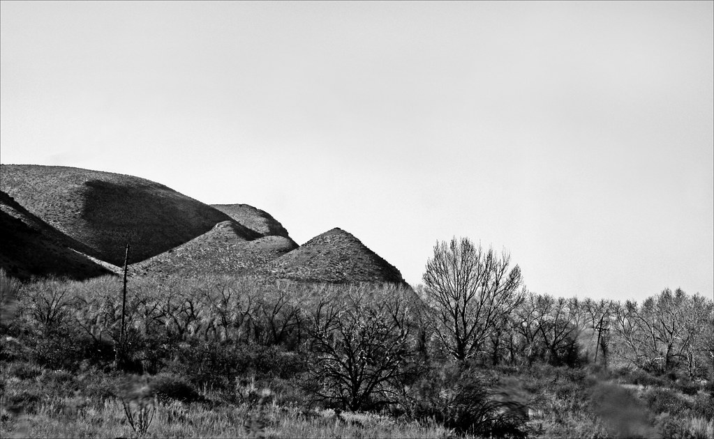 Somewhere in New Mexico: Cone Hills in Black and White