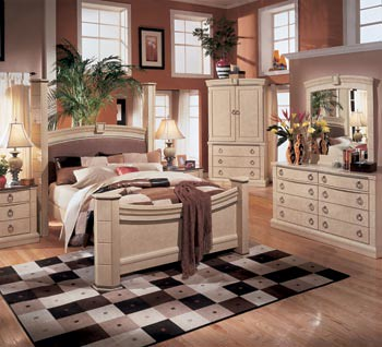 Elegant beautiful ashton castle king size bedroom set made by asley furniture