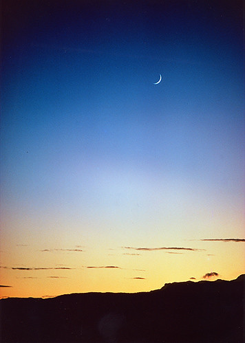 sunset film utah bluesky kodachrome crescentmoon coyotessingpraisesinthesirenssongchorusoftheutahdesert