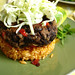 Black Bean Cakes with Mexican Rice and slaw