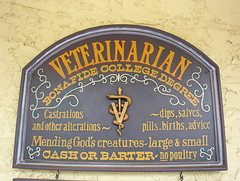 Veterinarian sign