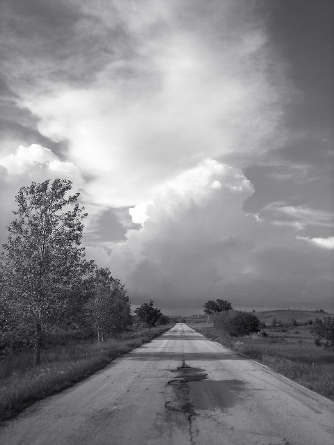 Old Highway 11, near Avant, Oklahoma (Vertical)