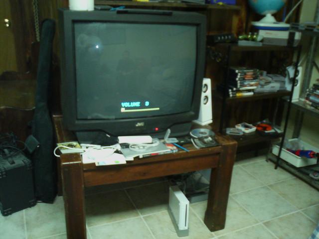 basement game setup basement video game setup by lonelybob