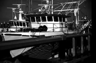 fishing boat close up