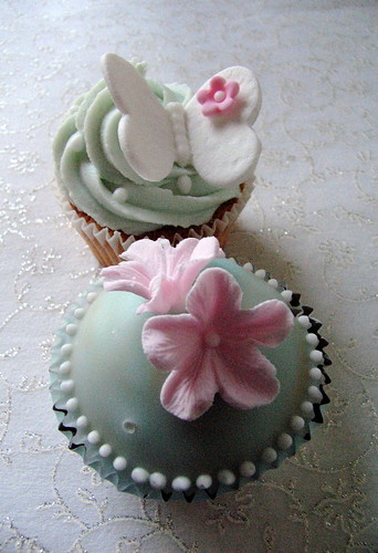 Flower & butterfly cupcakes! Not quite finished yet!