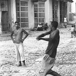 Men Playing Baseball - Trinidad, Cuba