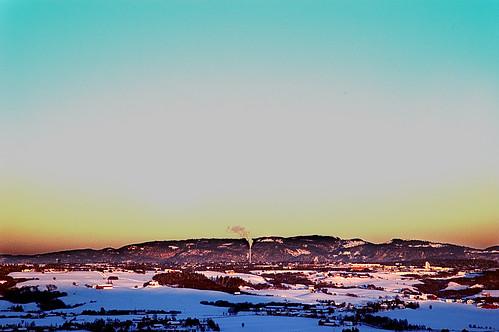 winter color norway view trondheim fotodyret