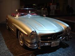 mercedes-benz 190sl(0.0), supercar(0.0), sports car(0.0), automobile(1.0), automotive exterior(1.0), vehicle(1.0), performance car(1.0), automotive design(1.0), mercedes-benz(1.0), mercedes-benz 300sl(1.0), antique car(1.0), land vehicle(1.0), luxury vehicle(1.0),