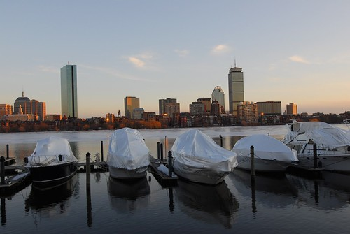 Boston Winter CityScape: Just Before Sundown