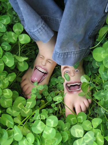 Happy Feet in Clovers