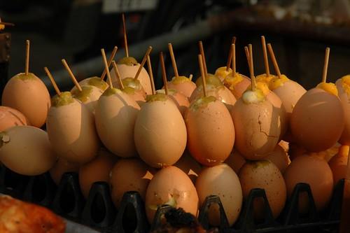 Grilled Eggs - Battambang, Cambodia