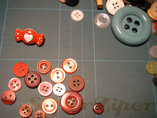Coração de botão | passo #1