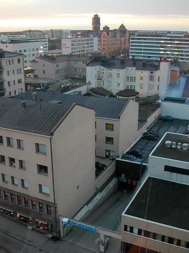 city urban buildings suomi finland town december watertower 2006 vaasa vasa pohjanmaa österbotten ostrobothnia