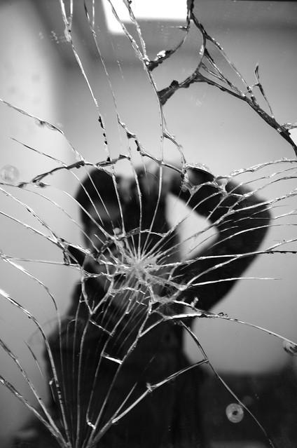 broken mirror reflection flickr photo sharing