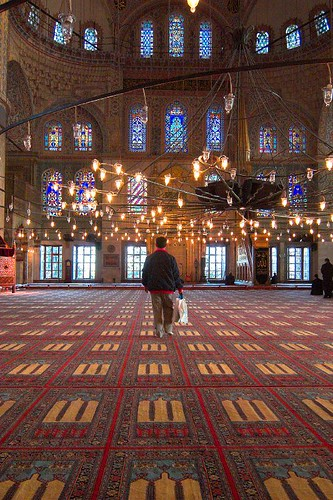 Turkey - Istanbul - Blue Mosque Interior 3