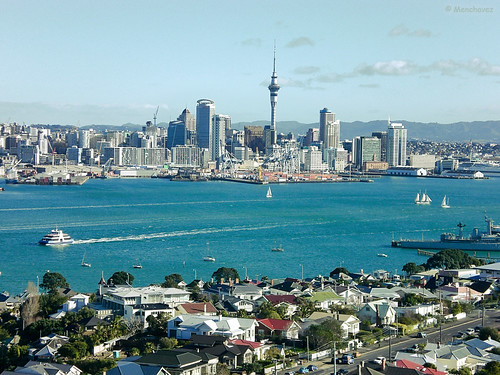 View of Auckland City from Mt Victoria, Devonport, Auckland, New Zealand