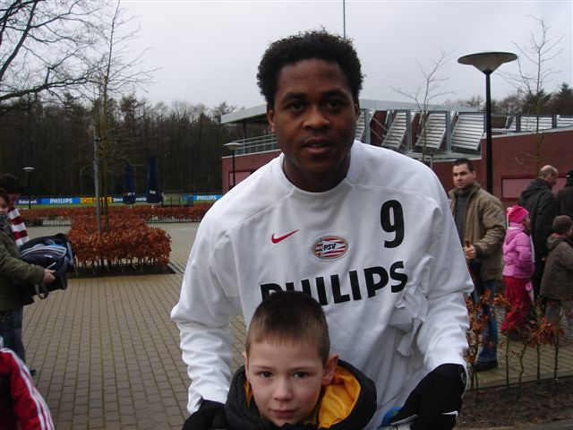 Jamie and Patrick Kluivert 27-1-2007