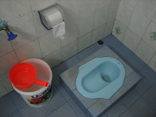 One of the cleaner Asian squat toilets