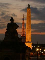 Paris - Place de la Concorde at sunset
