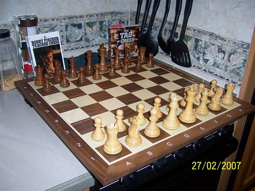 New wooden chess set