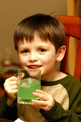nick and his green lemonade for not st. patricks day…