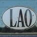LAO Sign - Luang Prabang, Laos