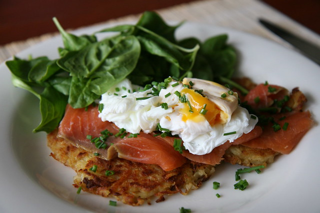 Smoked salmon on potato rosti | Flickr - Photo Sharing!