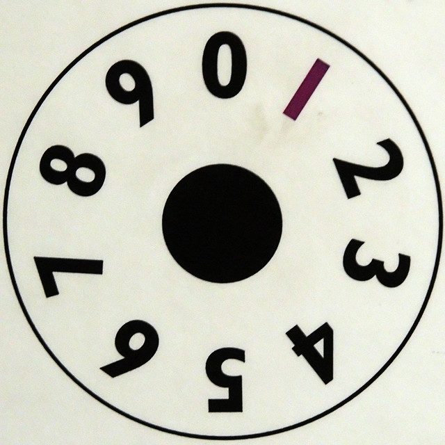 counting machine dial