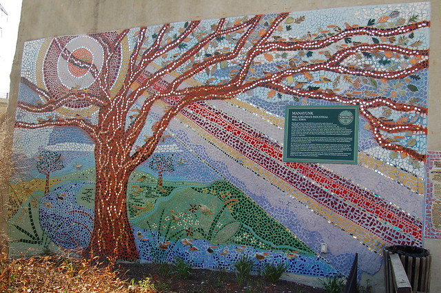 Tree mosaic mural flickr photo sharing for Mural z franciszkiem