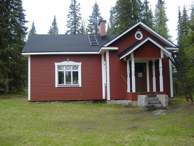 Una de las muchas cabañas en Finlandia.