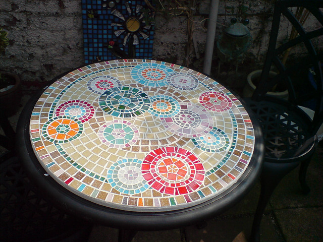 Mosaic Table Top Yay My First Attempt Using The Indirect Flickr Phot