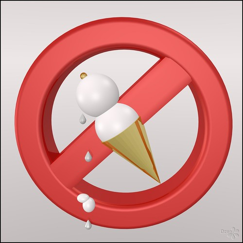 No Eating / No Ice Cream Sign