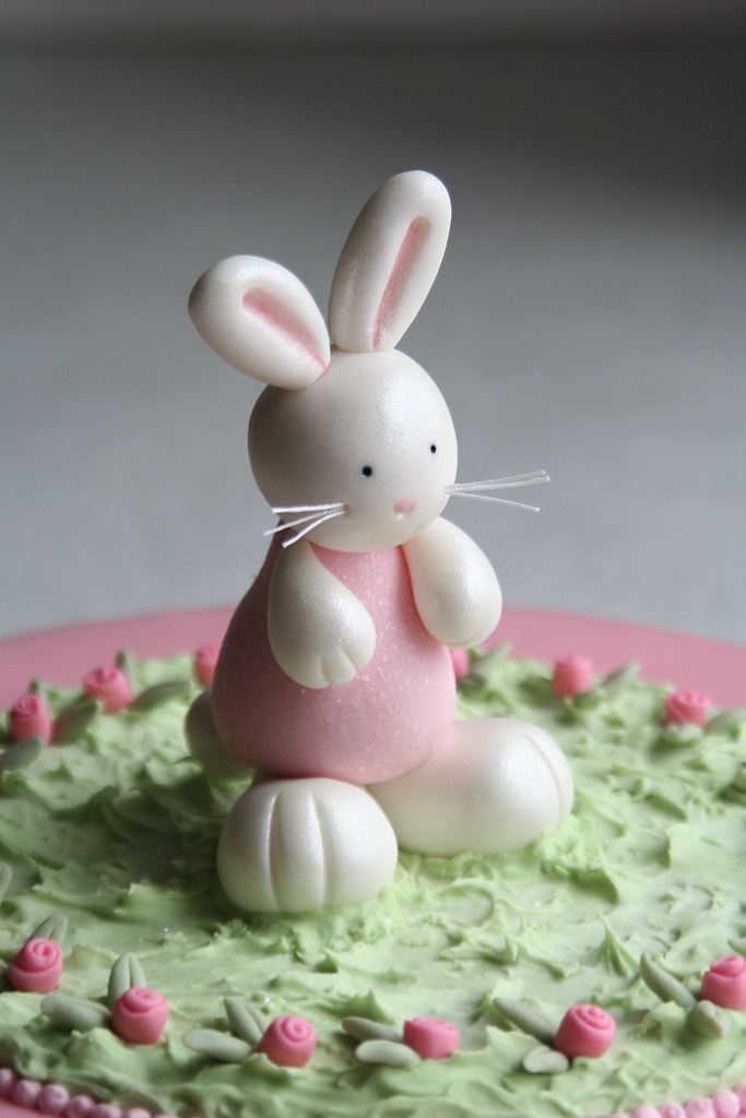 Bunny Birthday Cake Detail A Photo On Flickriver