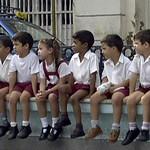 Students Waiting for Parade - Santiago, Cuba