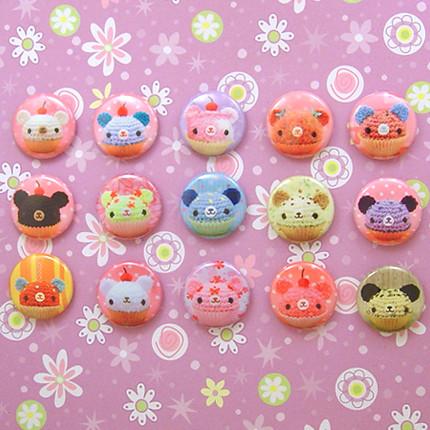 Amigurumi Cupcake Bears Pin set A Flickr - Photo Sharing!