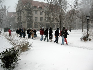 Cross campus march